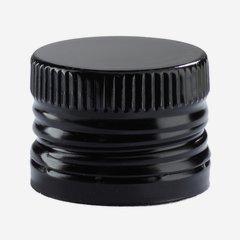 Csavarzár csepporrel,31,5mmx24mm,fekete