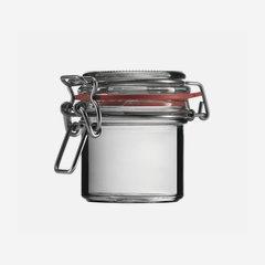 Csatos üveg,125 ml,átlátszó