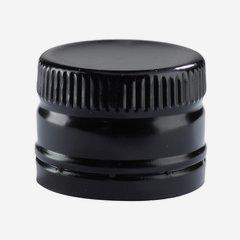 Csavarzár csepporrel,méret:31,5mmx24mm,fekete