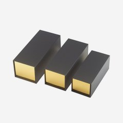 Ajándékdoboz mágneszárral, szín: fekete -arany