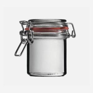 Csatos üveg,167 ml,átlátszó