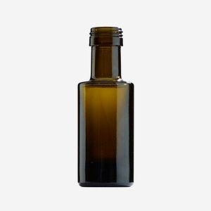 Dorica üveg, 50 ml, antikzöld, szájméret: PP 24