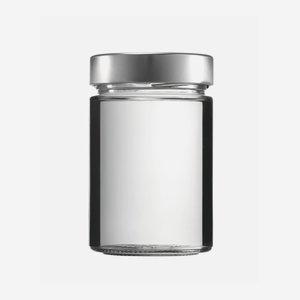 FACTUM üveg,370 ml,átlátszó,szájforma:TO70DE