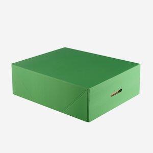 Kartondoboz, összehajtható, szín: zöld