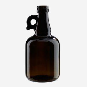 Gallone üveg,500 ml, antikzöld, szájforma:PP 31,5