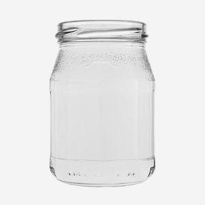 Joghurtos üveg,250 ml,átlátszó,szájforma:TO63