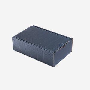 Ajándékdoboz hullámkartonból, szín:kék