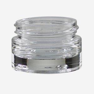 Üvegtégely,15ml,átlátszó,vastag talpazat