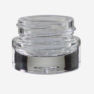 Üvegtégely,5ml,átlátszó,vastag talpazat