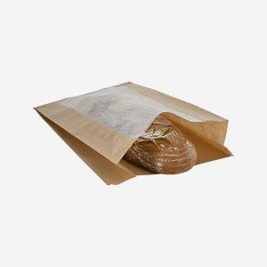 Éltalpas ablakos papírtasak 4 kg, 100% papír