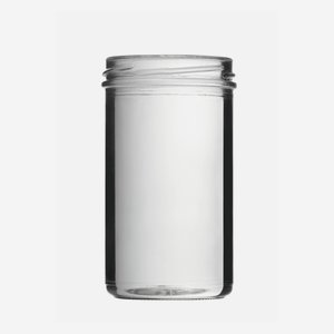 Tároló üveg,277 ml,átlátszó,szájforma:TO66