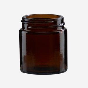 Krémtégely, 30 ml,barna, szájforma: Bak-38s