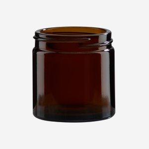 Krémtégely, 60 ml,barna, szájforma: Bak-51s