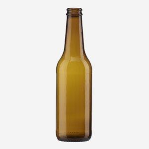 Sörös üveg,330ml,barna,szájforma:söröskupak