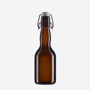 Csatos üveg,330ml,barna,szájforma:csat