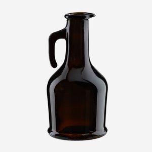 Caraffina üveg,250 ml, antikzöld, szájforma:dugó