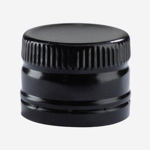 Csavarzár csepporrel,méret: 31,5x24mm,fekete