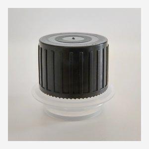 Csavarzár olajos dobozhoz, 24 mm, fekete