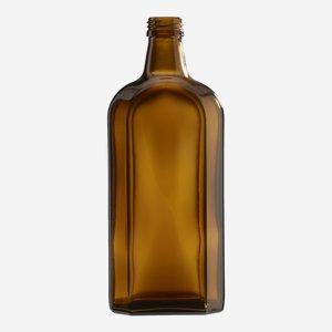 Elixír üveg, 500 ml, barna, szájforma:PP 28