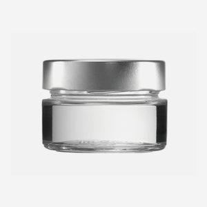 FACTUM üveg,106 ml,átlátszó,szájforma:TO70DE