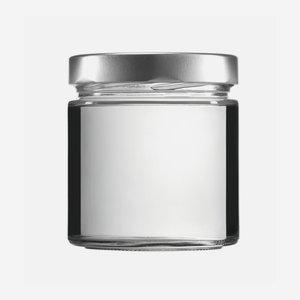 FACTUM üveg,410 ml,átlátszó,szájforma:TO82DE