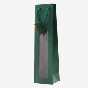 Zsinorfüles ablakos ajándéktasak, zöld