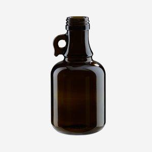 Gallone üveg,250 ml, antikzöld, szájforma:PP 31,5