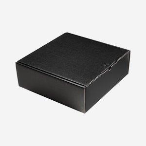Ajándékdoboz matt fekete színben