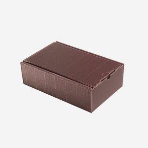 Kartonkosárka hullámkartonból, szín:bordó