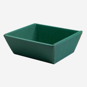 Kartonkosárka hullámkartonból, szín:zöld
