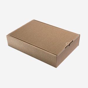 Ajándékdoboz hullámkartonból, szín: barna