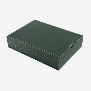 Ajándékdoboz hullámkartonból, szín: zöld