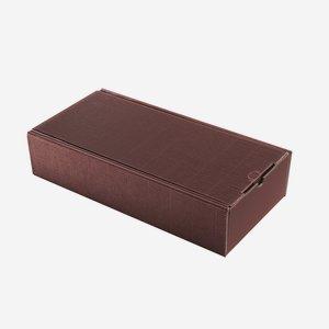 Ajándékdoboz hullámkartonból, szín: bordó