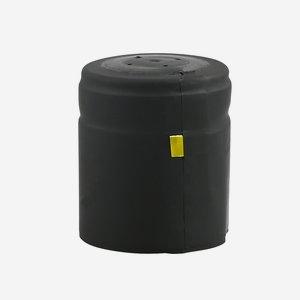 Zsugorkapszula,méret: 37mm x 45 mm,fekete(matt)