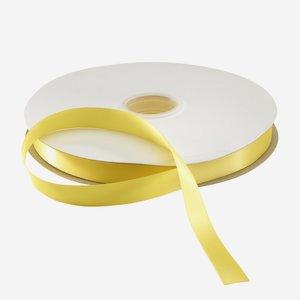 Szatén dekorációs szalag, sárga