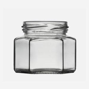 Hatszög üveg,106 ml,átlátszó,szájforma:TO53
