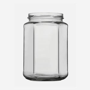 Hatszög üveg,720 ml,átlátszó,szájforma:TO82