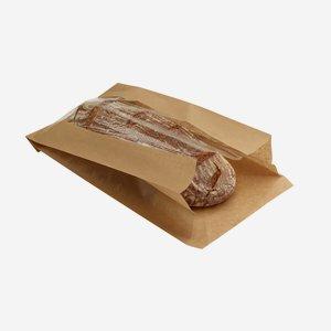 Éltalpas ablakos papírtasak 3 kg-os,barna