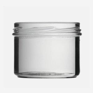 Tároló üveg,225 ml,átlátszó,szájforma:TO82