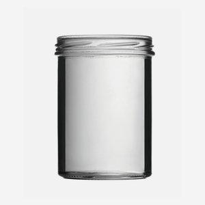 Tároló üveg,435 ml,átlátszó,szájforma:TO82