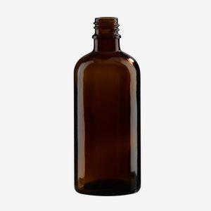 Cseppentos tégely,barna,100 ml,szájforma GL-18