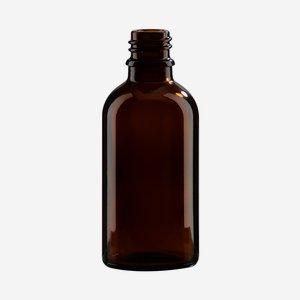 Cseppentos tégely,barna,50 ml,szájforma GL-18