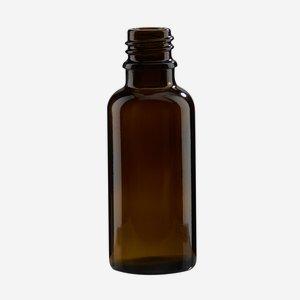 Cseppentos tégely,barna,30 ml,szájforma GL-18