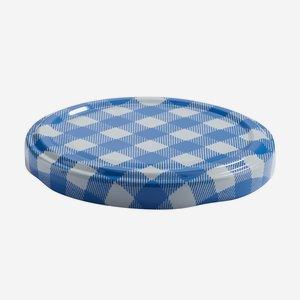 TWIST-OFF lapka,átméro:70 mm,kék-fehér