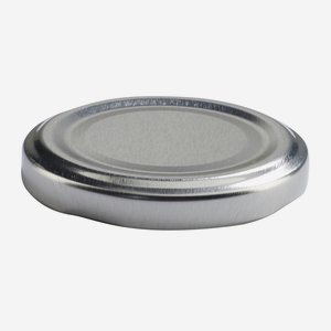 TWIST-OFF lapka, PVC mentes, ø58 mm,szín:ezüst