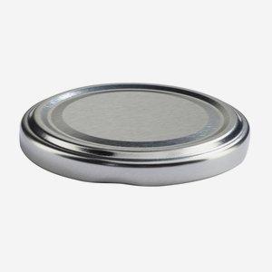 TWIST-OFF lapka, PVC mentes, ø66 mm,szín:ezüst