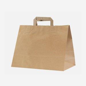 Szalagfüles sütoipari táska, natúr barna