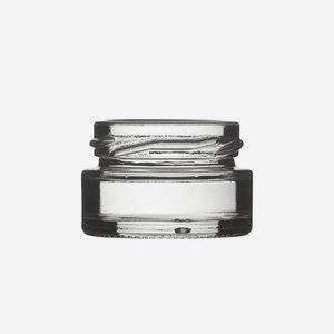 Konzerves üveg,22 ml,átlátszó,szájforma:TO43