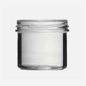 Konzerves üveg,125 ml,átlátszó,szájforma:TO66