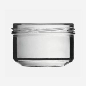 Konzerves üveg,186 ml,átlátszó,szájforma:TO82